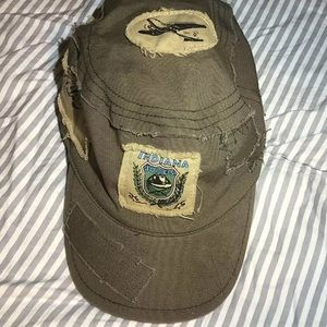 Indiana Jones Bucket Hat With Sticthed On Patches
